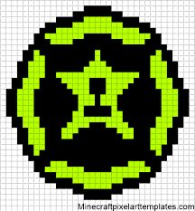 Minecraft Pixel Art Templates Decepticon  Perler Bead  Cross