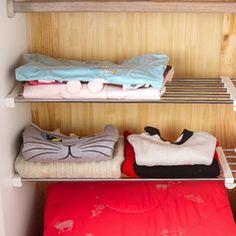 厨房置物架免钉伸缩衣柜架子橱柜隔板分层架整理收纳架储物架神器