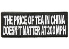 Price of tea in China doesn't matter patch