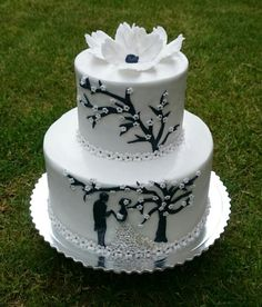 Wedding cake by AndyCake - http://cakesdecor.com/cakes/297866-wedding-cake