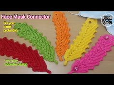 CROCHET: How to Crochet Face Mask Connector |Ear Saver [Subtitles Available]Hindi & Urdu #DollyCraft - YouTube Crochet Mask, Crochet Faces, Knit Crochet, Easy Youtube, Girly Outfits, Chrochet, Crochet Projects, Crochet Necklace, Ear