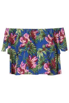 topshop-off-shoulder-hibiscus-top-xln