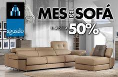 Comenzamos con una nueva promoción en sofas, pásate por nuestras tiendas y tendrás descuentos en sofas de hasta el 50% durante todo el mes de NOVIEMBRE 2015. No te pierdas la promoción para renovar tu sofa y disfrutar del máximo confort en tu casa. Nuestros sofas los podemos adaptar a cualquier medida de tu hogar, ven y prúebalos. Te esperamos con una amplia oferta en sofas, sofas con chaiselonge, sofas rinconera, sofas cama y butacas. Sectional, Decor, Couch, Furniture, Sectional Couch, Home Decor
