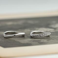 マリッジリング:Vivace due(ヴィバーチェドゥーエ) ウェーブラインの上に並ぶメレダイヤ。優雅なデザインの結婚指輪。  [Platinum 900 marriage wedding ウエディング 結婚指輪 diamond ダイヤモンド]