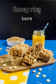 Honeyring-1 Cheerio Bars, Cookie Bars, Cereal, Honey, Cookies, Breakfast, Recipes, Food, Breakfast Cafe