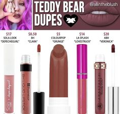 Kylie Cosmetics - The Birthday Collection - Gloss - Cherry Pie - Cute Makeup Guide Drugstore Makeup Dupes, Lipstick Dupes, Beauty Dupes, Makeup Swatches, Beauty Products, Makeup Products, Liquid Lipstick, Elf Dupes, Fall Lipstick