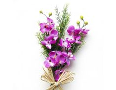 Orchid Hand Bunch  Perfect for creating your own silk floral arrangements or to display on its own, this beautifully detailed 2 Orchid stem will give a spring touch to any home.  For More Visit http://www.goenkaflorist.com