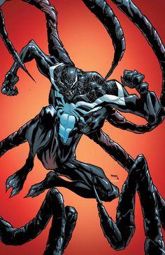 "Superior Spiderman The ""Superior"" Venom Battles The Avengers. Cover by Humberto Ramos Marvel Comics, Arte Dc Comics, Marvel Venom, Marvel Vs, Marvel Heroes, Captain Marvel, Mundo Marvel, Amazing Spiderman, Comic Art"