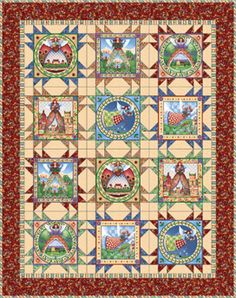 "Free quilt patterns | ... free ""Angels Among Us"" quilt pattern (courtesy of Quilting Treasures"