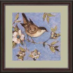 Susan Winget 'Native Finch I' Framed Art