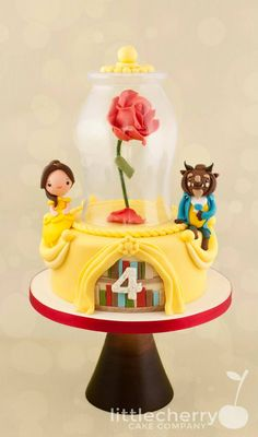 Chibi Beauty and the Beast Cake made by Little Cherry Cake Company