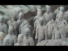 Terracotta Army. Two minute video about the pottery figures uncovered in a Chinese archeological dig. Good introduction - however, the text is written by a non-English speaker, with many mis-spellings and grammatical errors.