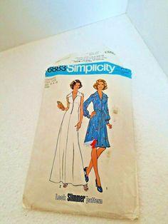 Simplicity Dress Pattern 1975 6883 Sz 10 And 12 Mccalls Patterns, Simplicity Sewing Patterns, Vintage Sewing Patterns, Poncho Dress, Evening Dress Patterns, One Piece Dress, Women Brands, Top Pattern, Craft Supplies