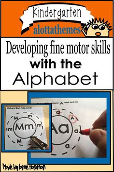 This pack includes fine motor activities that are perfect for small groups, centers, and more! Each of the activities practice learning the alphabet in a fun way! Learning The Alphabet, Alphabet Activities, Motor Activities, Preschool Activities, Learning Through Play, Preschool Kindergarten, Math Skills, Hole Punch, Fine Motor Skills