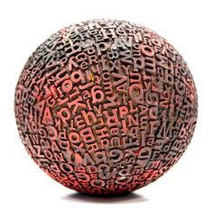 [:For rolling performance and effects:] Typographic sphere by Eric Calderon