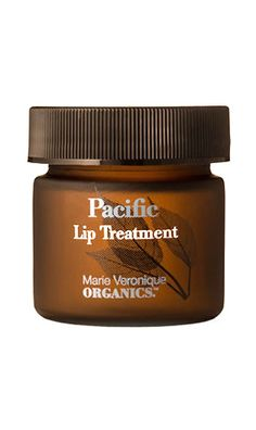 Slather on a hydrating lip balm after brushing your teeth and before doing anything else. // Pacific Lip Treatment by Marie Veronique Organics