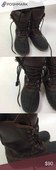 7df20b03af6 Mens LL Bean Size 7 Winter Snow Waterproof Boots L Bean Men s Winter Boots  Brown New