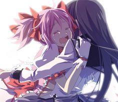 Resultado de imagen de madoka homura kiss