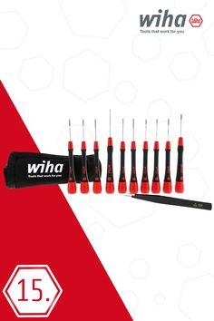 Wiha 27394 11 Piece ESD Safe Picofinish Precision Screwdriver Set in Pouch
