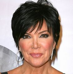Kris Jenner Haircut Pictures Back View Short Hairstyle . Short Hairstyles For Thick Hair, Mom Hairstyles, Older Women Hairstyles, Short Hair Cuts For Women, Short Hair Styles, Short Haircuts, Hairstyle Ideas, Classy Hairstyles, Textured Hairstyles