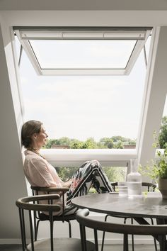 A statement Velux window makes this a daylight filled loft conversion Design Your Dream House, My Dream Home, House Design, Roof Window, Roof Light, Loft Design, House Extensions, Blinds For Windows, Slow Living