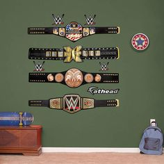 WWE Title Belts Collection Fathead Wall Decal