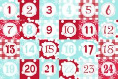 Image result for printable advent calendar numbers