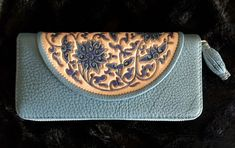 Leather Tooling, Leather Wallet, Floral Clutches, Zip Wallet, Hand Tools, Wallets For Women, Pebbled Leather, Continental Wallet, Sunglasses Case