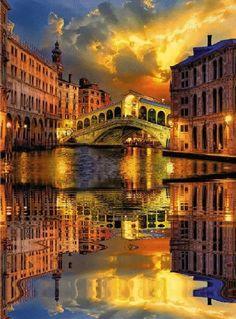 Rialto bridge, Venetia, Italy