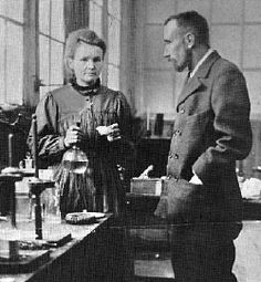 Physics Summary of Madame Marie Curie's contribution to Science. Marie Curie Biography, Information on her Noble Prize, Quotes, Pictures and Photographs of Marie and Pierre Curie. Marie Y Pierre Curie, Madame Marie Curie, James Dean, Steve Jobs, Audrey Hepburn, Einstein, Radium Girls, Interactive Timeline, Modern Physics