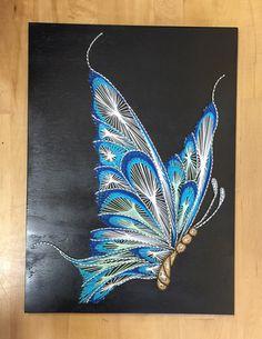Butterfly String Art von StringTheoryVan auf Etsy