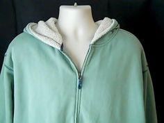 Orvis Mens XL  Green Sweat Shirt Hoodie  Polyester Cotton #Orvis #Hoodie
