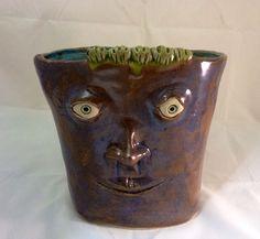 Face Planter with ride along caterpillar glazed by MuddyRiverClay