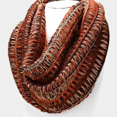 Funky Knit Infinity Scarf (Multiple Colors Available)