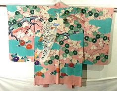 Peacock & Cherry Blossom Vintage Haori!