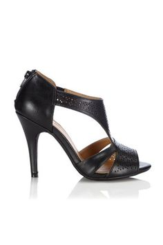 Black Zip Heeled Sandal Shoes Sandals, Heels, Fashion Dresses, Zip, Clothes For Women, Shopping, Black, Style, Heel
