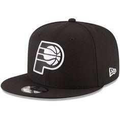 the best attitude 2125f e84f8 Men s Indiana Pacers New Era Black Black  amp  White Logo 9FIFTY Adjustable  Snapback Hat,
