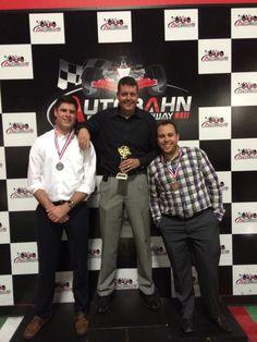 On the podium at the Autobahn Indoor Speedway