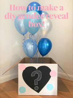Learn how to make a simple DIY Gender Reveal Balloon box with a few basic supplies. Create the best homemade Gender Reveal box with our easy to follow guide.  #genderreveal #genderrevealbox #genderrevealballoonbox #diygenderrevealbox #genderrevealideas #gednerreveals