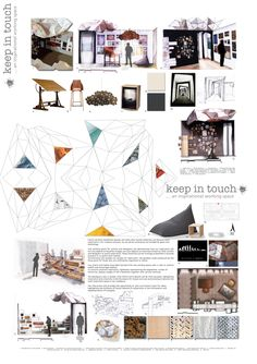 """""""Keep in Touch"""" Grand Design room by design. Michele Meister. Diploma of Interior Design and Decoration #creativefest #RMIT"""