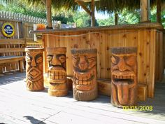 Tiki Totem Bar Stools To Compliment A Tiki Bar In New Jersey
