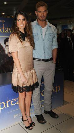 Nikki Reed and Kellan Lutz in Glasgow