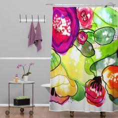 CayenaBlanca Organic Poetry Vol II Shower Curtain | DENY Designs Home Accessories