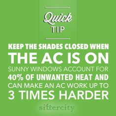 #QuickTip to save money on electricity this summer