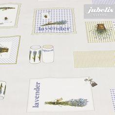 jubelis® Wachstuchbelag von der Rolle Muster mit Karos und Lavendel