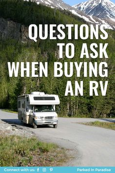 Checklist of questions to ask when buying an RV. Inspection advice and hacks on things to look for. Travel Trailer Camping, Rv Travel, Travel Trailers, Rv Camping, Time Travel, Glamping, Adventure Travel, Best Rv Parks, Campers