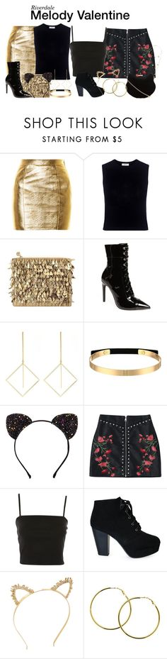 """""""Riverdale"""" by sparkle1277 ❤ liked on Polyvore featuring Yves Saint Laurent, A.L.C., Forest of Chintz, Jeffrey Campbell, Love Rocks, Steve Madden, Topshop, BCBGMAXAZRIA, Melissa Odabash and Made"""