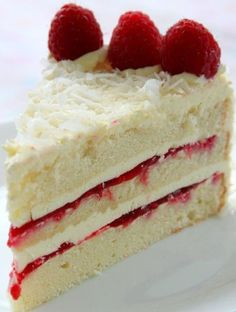 Coconut Raspberry Lemon Cake
