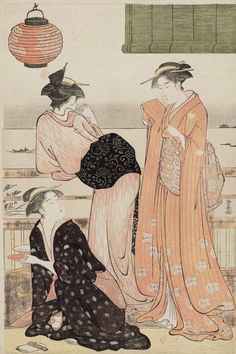 The Sixth Month. Ukiyo-e woodblock print, 1784, Japan, by artist Torii Kiyonaga.