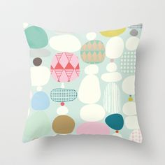 Stepping Stones Throw Pillow by Viola Brun Designs   Society6